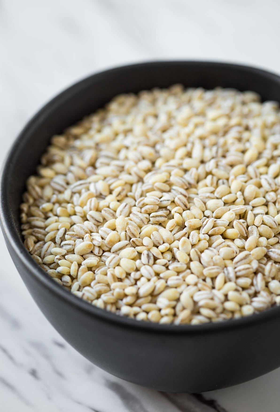 Pearl barley grains for making Vegetable Barley Soup. #barleysoup