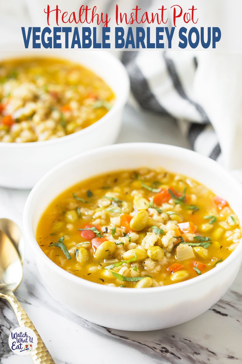 This Instant Pot Vegetable Barley Soup is a quick and easy recipe to enjoy a wholesome and nutritious soup. Full of flavors and takes about 30-40 min to prepare. And a perfect vegetable soup for weeknight dinners. | #watchwhatueat#barley #barleysoup #vegan #instantpotsoup