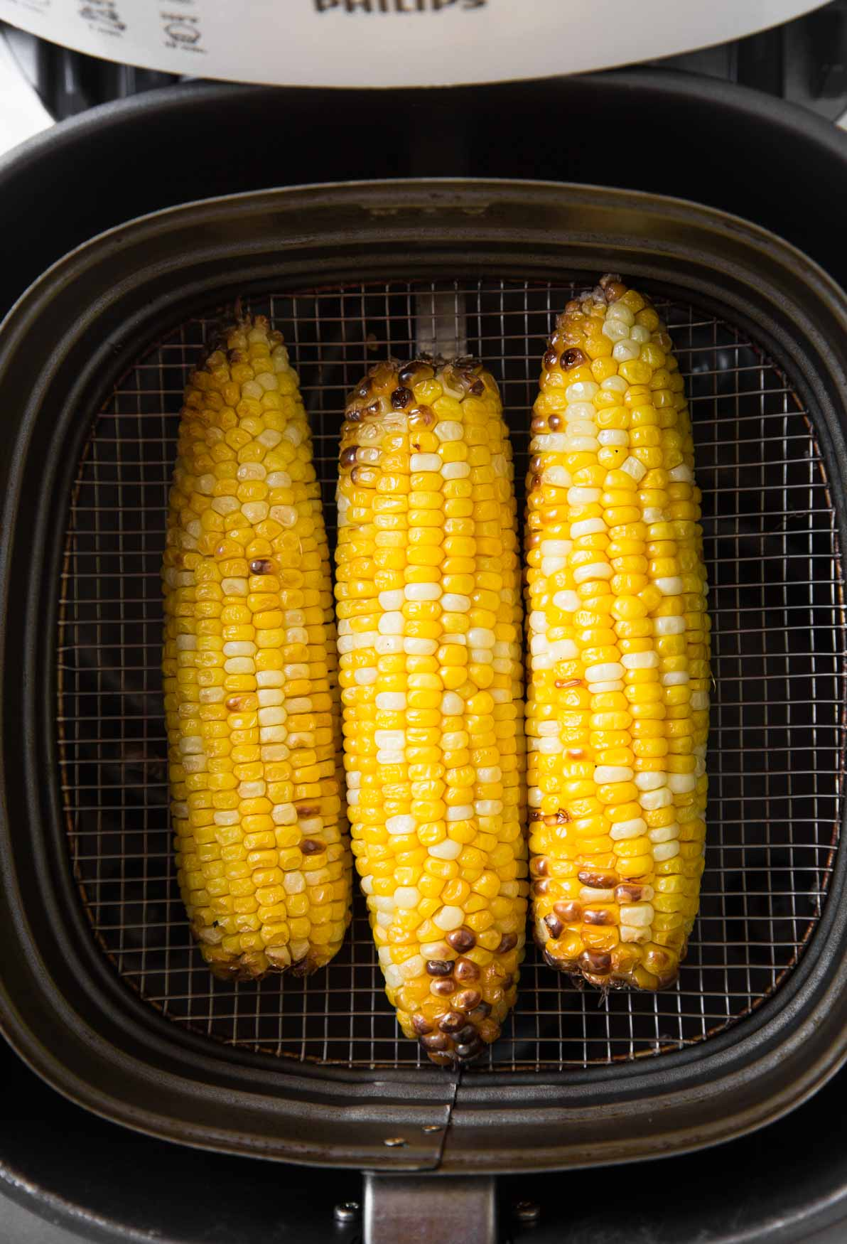 Roasted corn on the cob in Air Fryer Basket