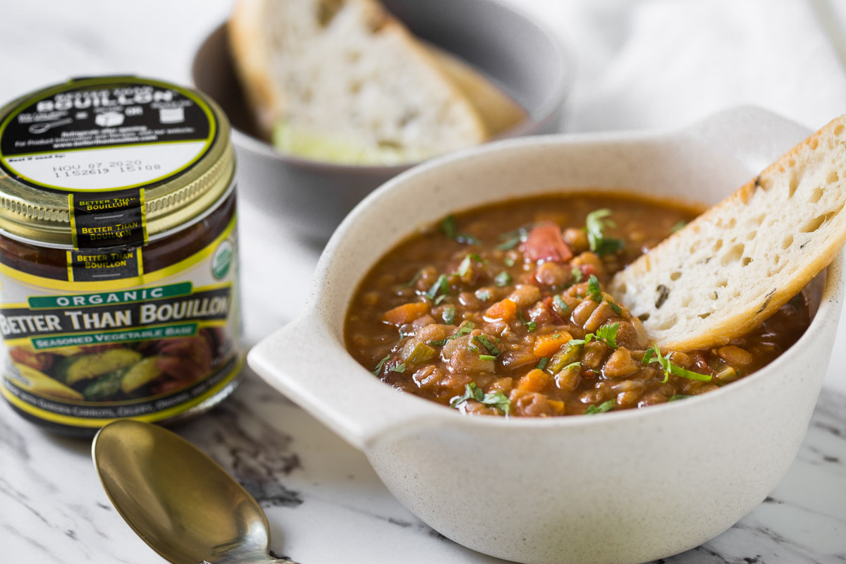 This Instant Pot Vegetarian Lentil Soup is a quick and easy wholesome healthy soup that you will love to make again & again. Packed with proteins & tempting flavors.