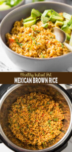 Instant Pot Mexican Brown Rice Recipe - Make this delicious brown rice in Instant Pot for easy and simple side to your favorite Mexican meal. It is prepared using authentic spices, fresh tomato, onion, and garlic. | #watchwhatueat #instantpot #mexicanrice #instantpotrice #brownrice