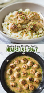 Super soft melt-in-mouth texture of these ground turkey meatballs along with a creamy delicious gravy makes it into a satisfying meal. You can also label them as Thanksgiving turkey meatballs and include them in the upcoming holiday party menu. #watchwhatueat #healthythanksgiving #turkey #meatballs #thanksgivingturkey