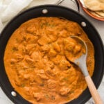Enjoy authentic Indian flavors in this healthy restaurant-style Chicken Tikka Masala. Simple and easy tikka masala recipe for a weeknight meal or to serve at a party. And the tomato-based sauce or gravy is dairy-free that you will want to make again and again. | #watchwhatueat #chickentikka #chickentikkamasala #indiancurry #tikkamasala