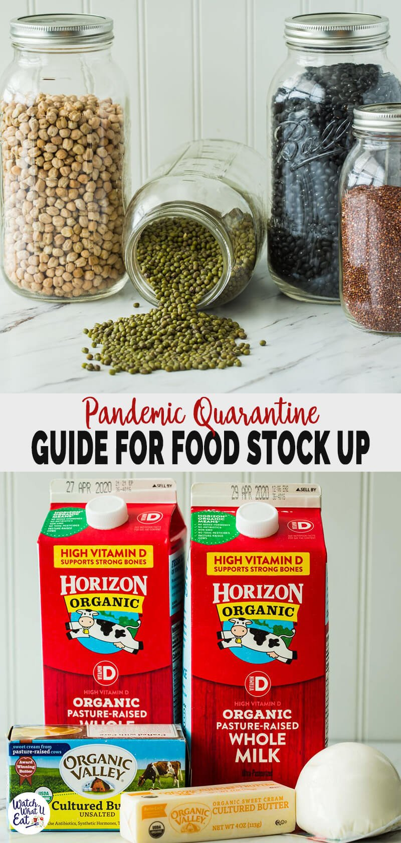 How To Stock Up Healthy Food for Quarantine During Pandemic - here are some practical tips or guide to stock up the pantry for quarantine period or coronavirus pandemic self-isolation.