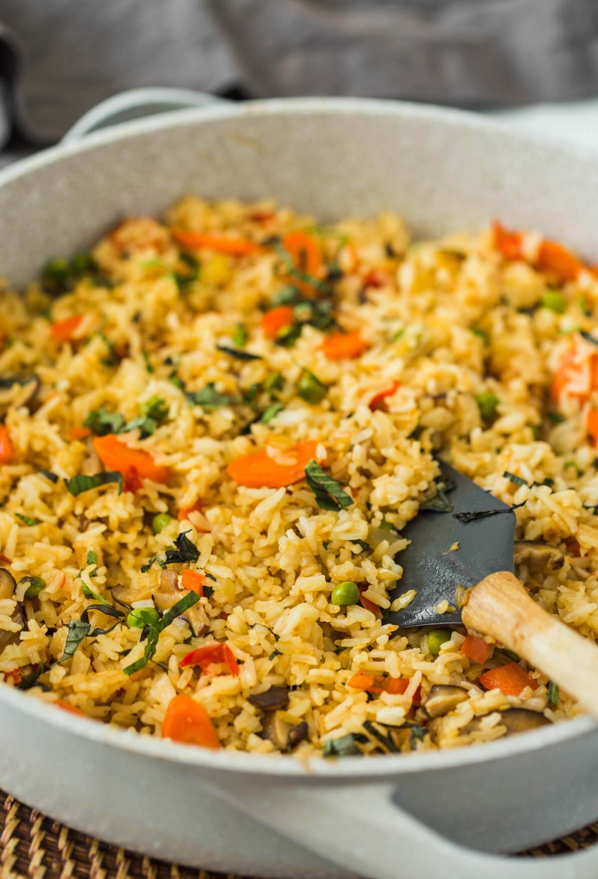 Quick And Easy Healthy Vegetable Thai Fried Rice With Amazing Flavors