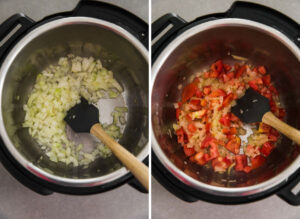 Cooking onion and tomato in Instant Pot